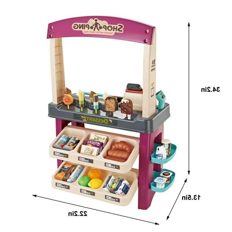 Ice Cream Play Set Kids Child 55 PCS Grocery Store