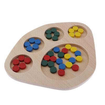 MagiDeal Learning Color Educational Toys Puzzle Montessori