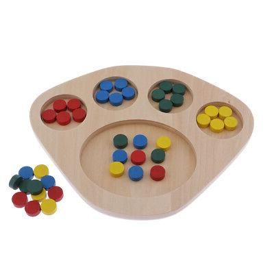 MagiDeal Kids Baby Wooden Learning Color Educational Toys Puzzle Montessori