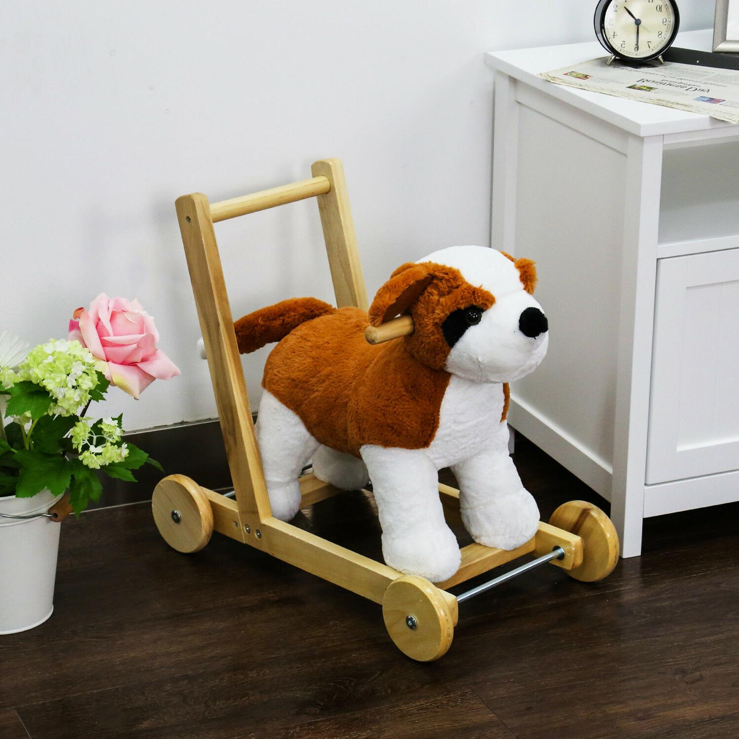 kids ride on toy pony dog theme