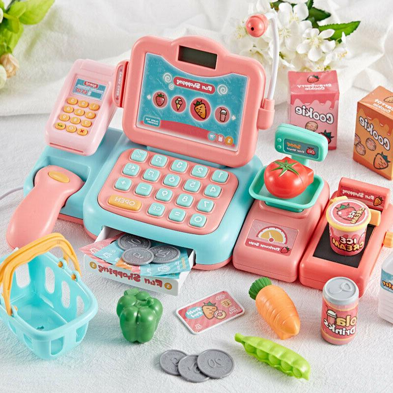 kids simulation cash register calculator cashier