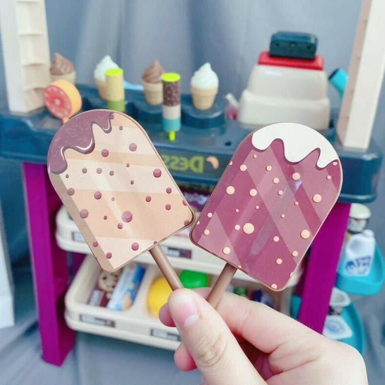 Kids Simulation Ice Shop Pretend Toy Set Gift A