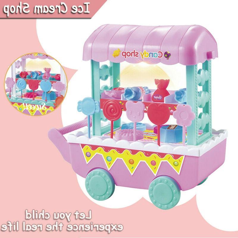 kids simulation ice cream shop dresser cart