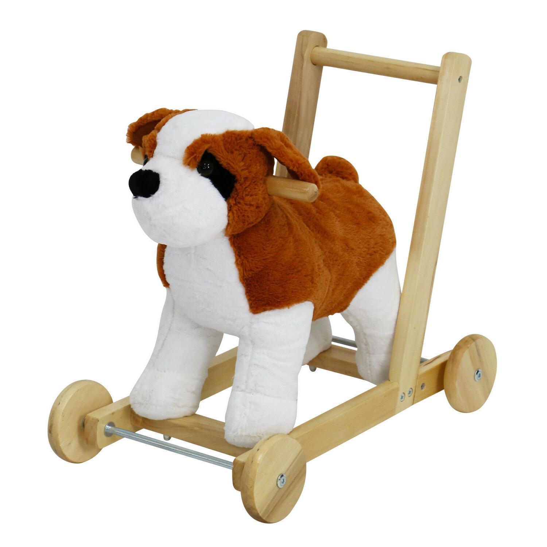 kids toy standing rocking horse dog theme