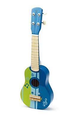 kids wooden toy ukulele in blue non