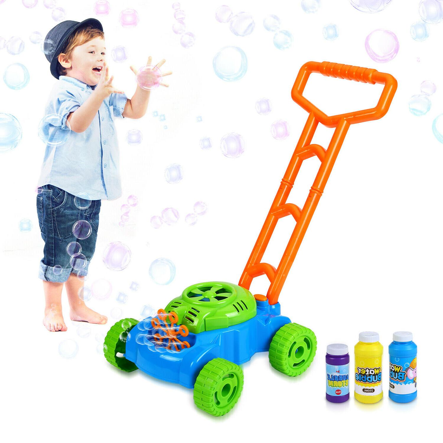 Bubble Mower Toddlers Kids Lawn Blower 3