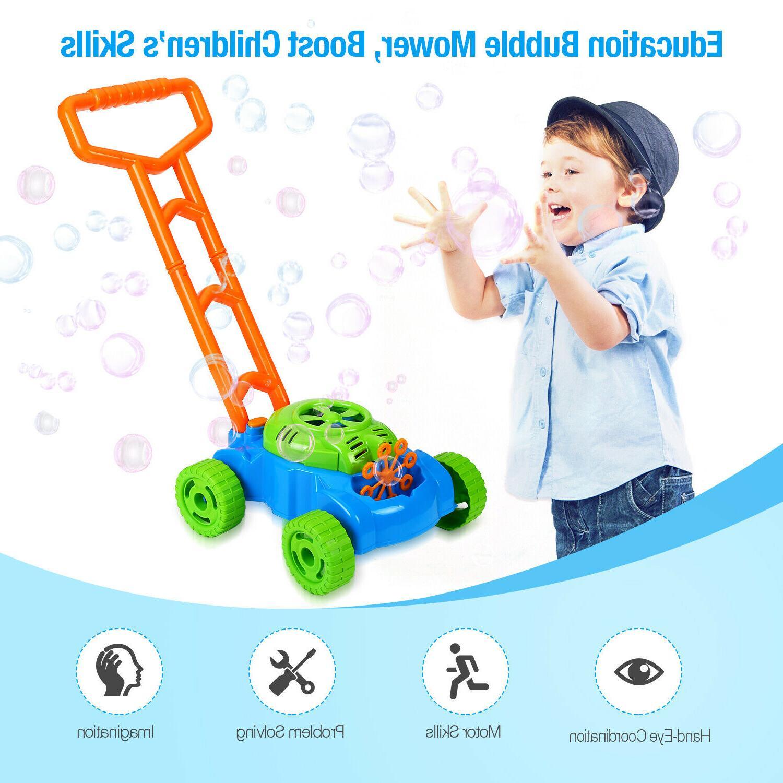 Bubble Mower Kids Outdoor Bubble Blower Toy 3