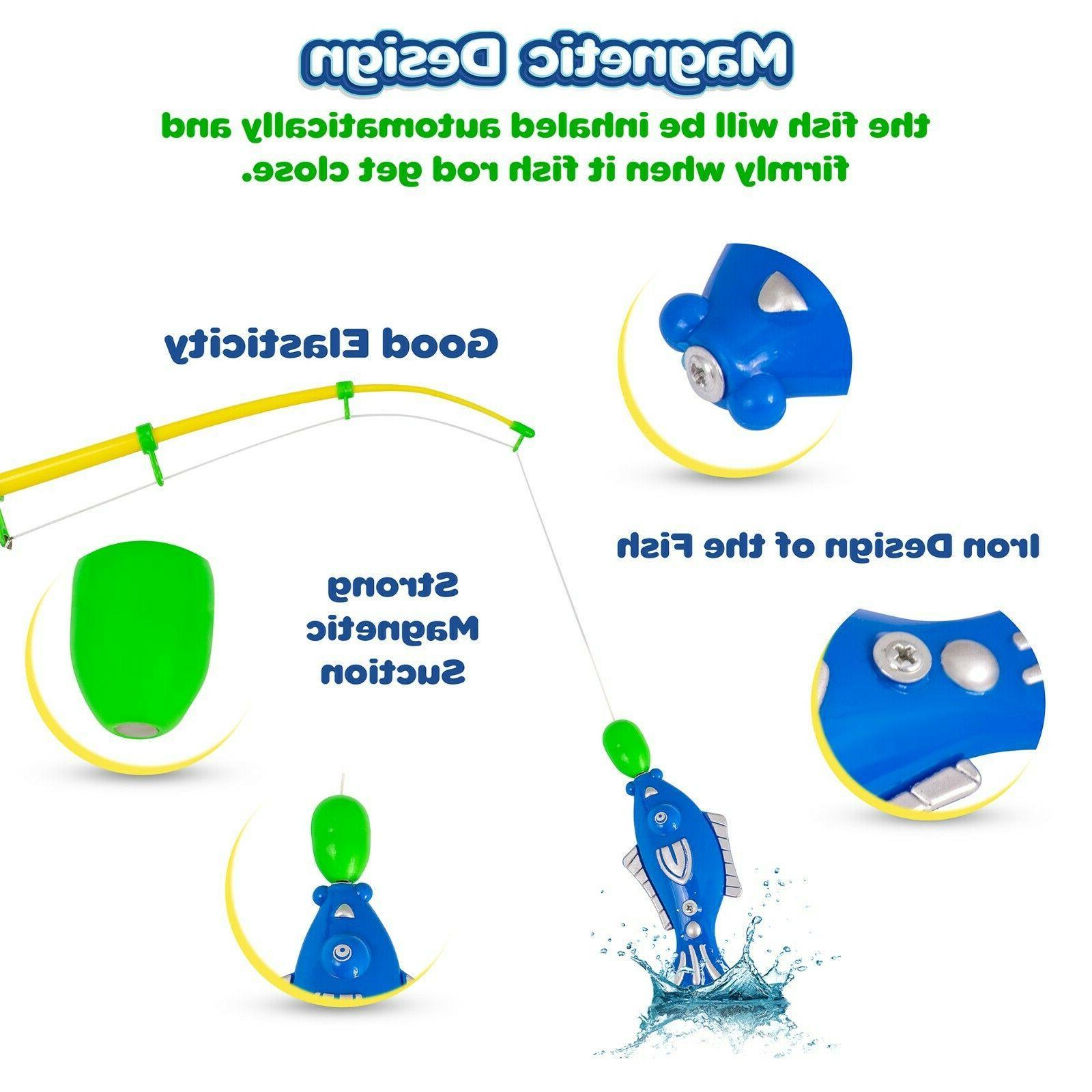 Magnetic pcs,Kids Toys Bathtub, Pool, 3 and