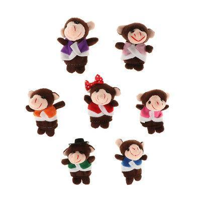 monkeys finger puppets kids plush cloth toys