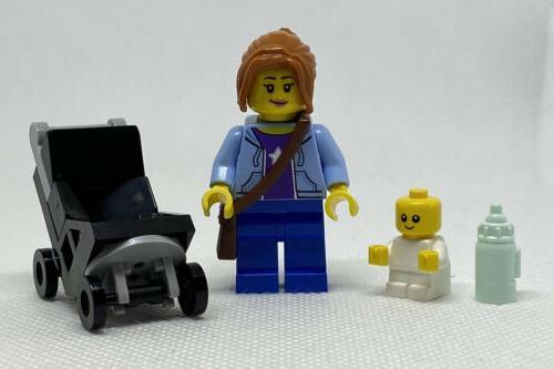 NEW GENUINE LEGO Mom and Baby Stroller Mini Figure