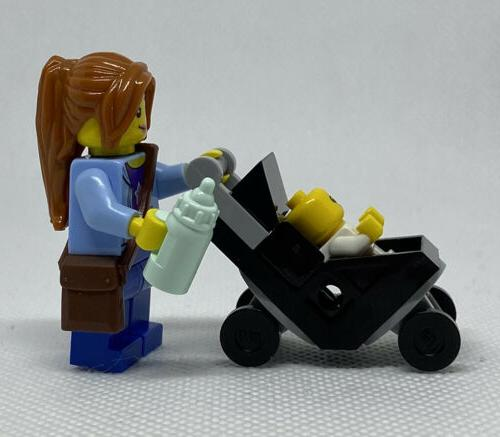 NEW GENUINE Mom and with Black Stroller Figure
