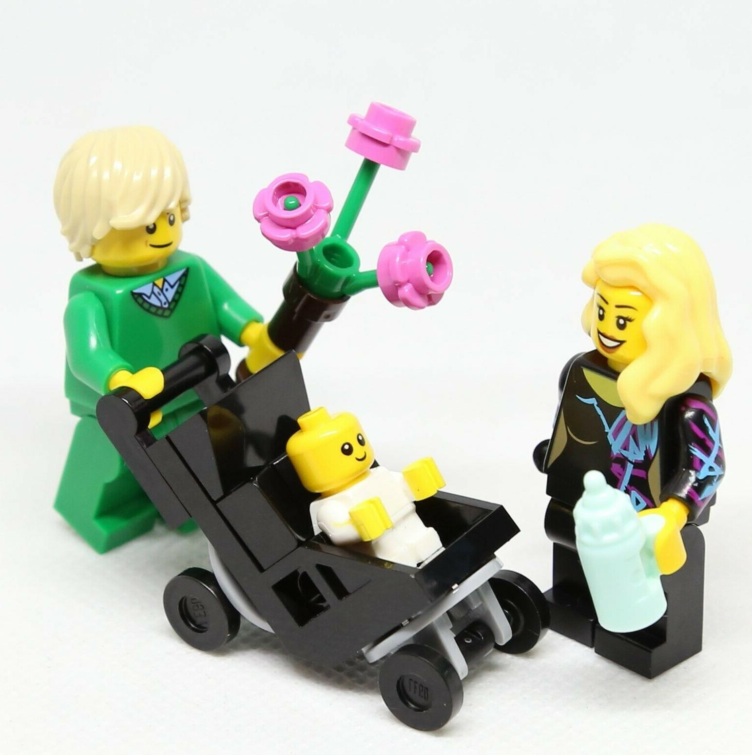 NEW LEGO Mom Baby with Stroller Minifigure Lot