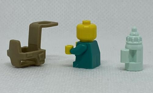 NEW GENUINE LEGO Teal with Carrier Bottle Minifigure