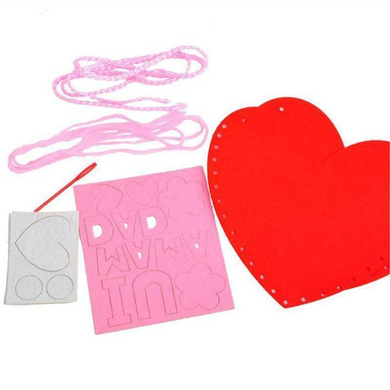 Funny Children's Handmade Heart Material HO
