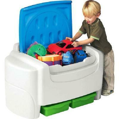 plastic toy storage chest organizer box bin