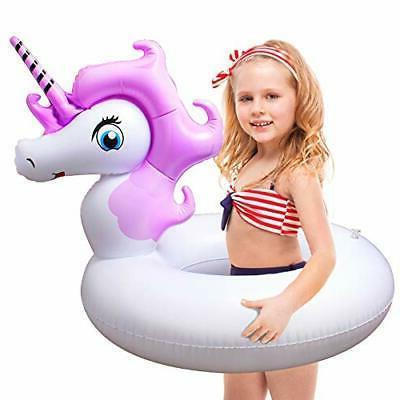 pool ring float inflatable unicorn