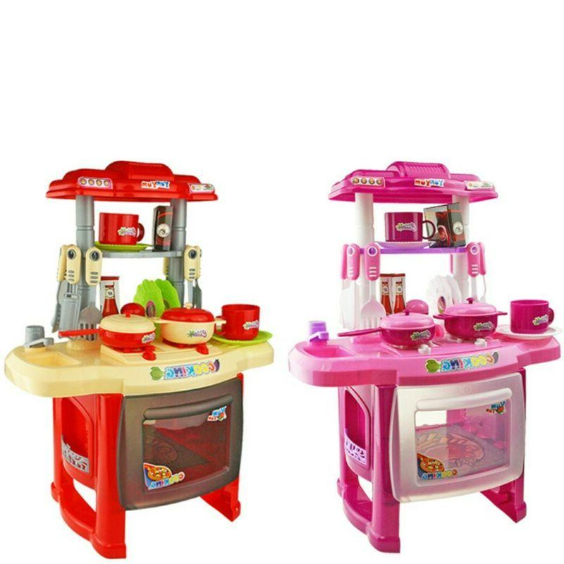 Kitchen Toy Kid Baby Playset Kids Cooking Pretend Play Table