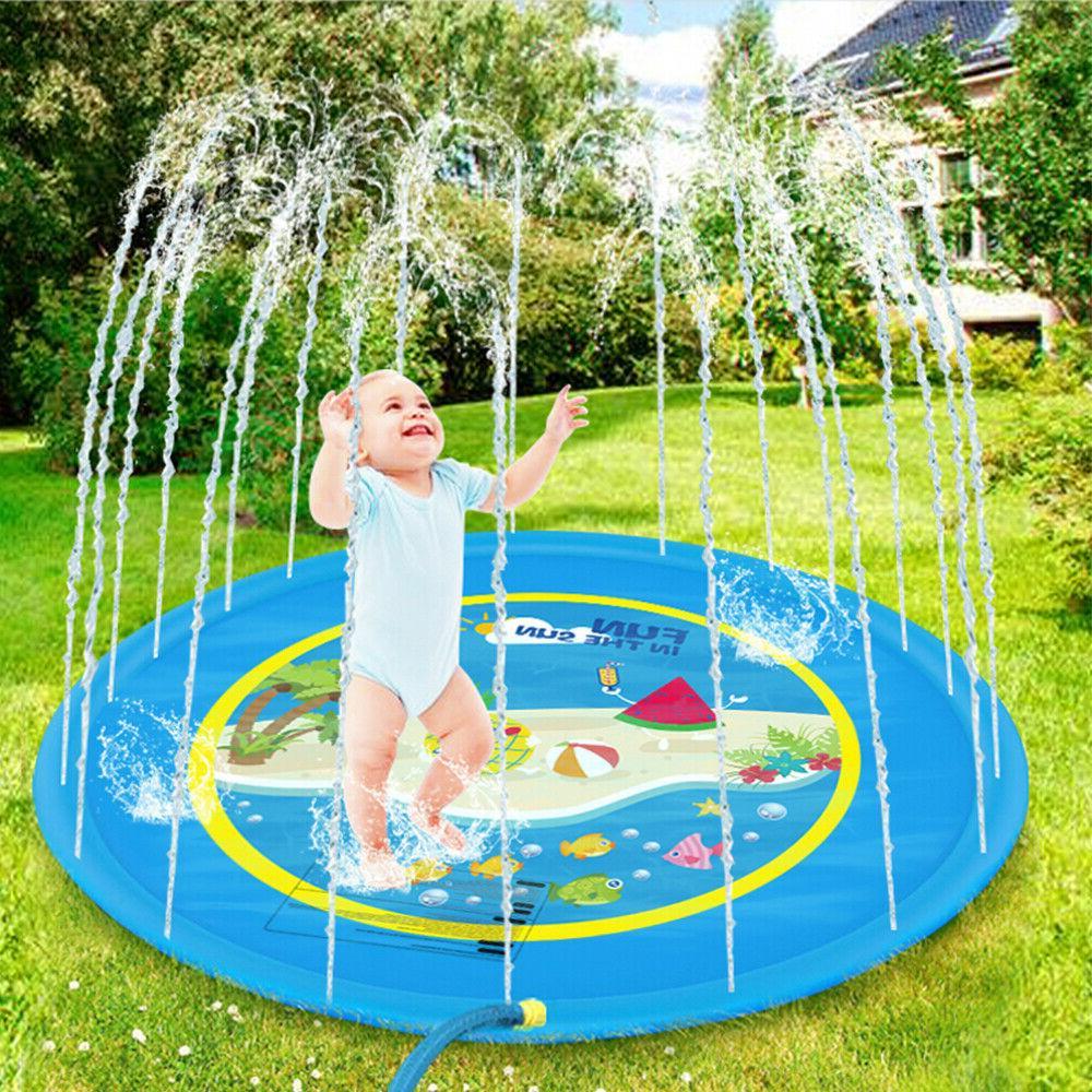 "Sprinkler Kids Sprinkler Splash Mat Lawn Water Pool Pad 59"" 67"""