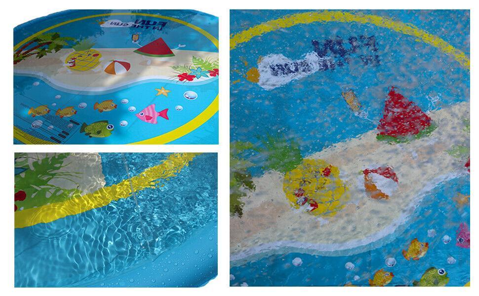 """Sprinkler Splash Mat Water Pool Pad Toys 59"""""""