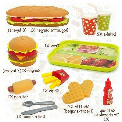 CAILLU Toddler Girls Play Food Pretend Green Bur...