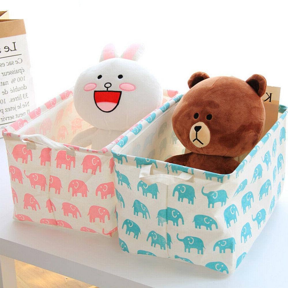 Toy Basket and Box Pink Elephant Toys and