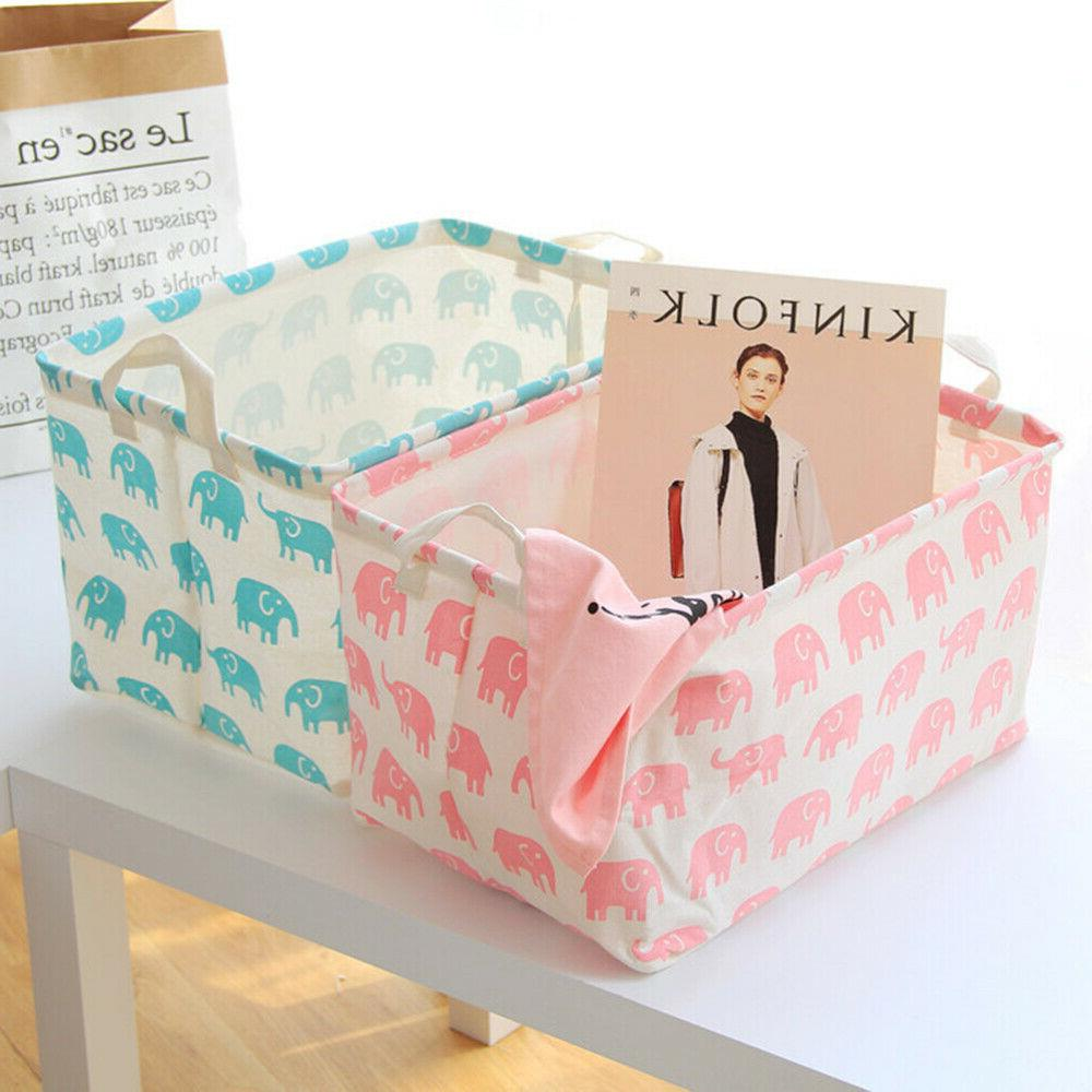 Toy Box Organizer Elephant Prints for Toys and