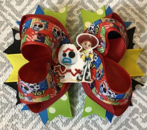 toy story forky hair bow with free