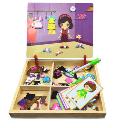 toys kids gift magnetic cut animal jigsaw
