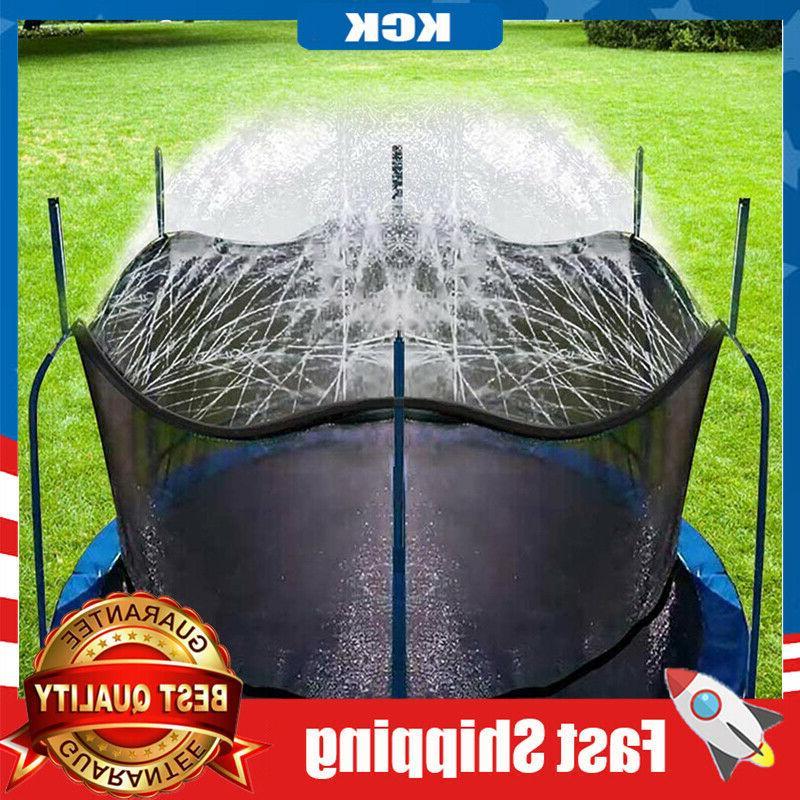 trampoline sprinkler outdoor park fun summer water