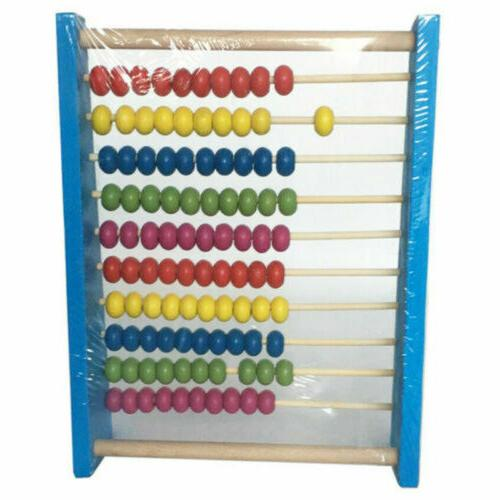 Wooden Abacus Counting Frame Childrens Maths H3Y