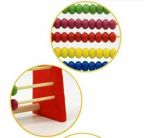 Wooden Abacus Frame Childrens Maths H3Y