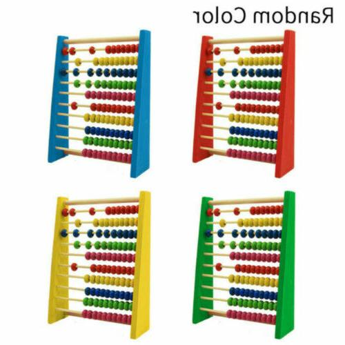 wooden bead abacus counting frame childrens kids