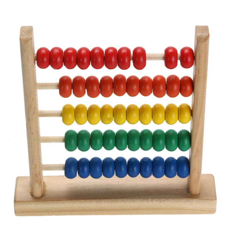 wooden abacus 50 beads counting number kid