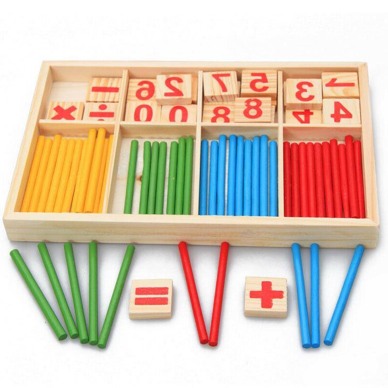 wooden kids education toys counting sticks montessori