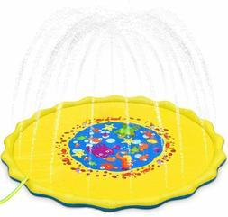 "Large 69"" Splash Pad Outdoor Toys for Kids,Sprinkler Water"