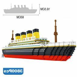 Large Titanic Cruise Ship Toy Building Blocks Brick Educatio