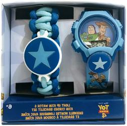 Toy Story 4 Light Up Icon Kids Watch & Icon Corded Bracelet