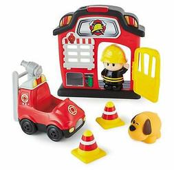 Kidoozie Lights 'n Sounds Fire Station - 12 Piece Playset