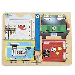 Locks And Latches Board Wooden Educational Toy