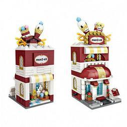 LOZ Street Mini Ice Cream Shop Kids Puzzle Mini Block Brick