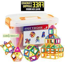 Magnetic Building Blocks 64 Piece Set Square Triangle Large