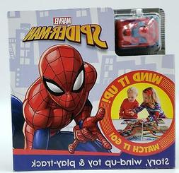 Marvel Spider-Man Story, Wind Up Toy & Play-Track Book Kids