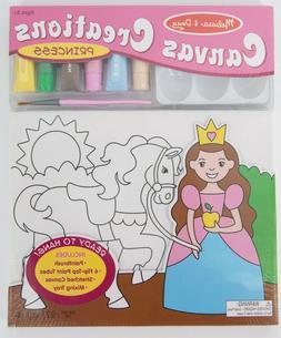 Melissa & Doug Canvas Creations Princess Paint Set Ages 5+