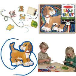 Melissa & Doug Lace & Trace Pets 5 Wooden Panels& 5 Matching