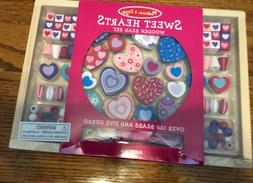 melissa and doug Sweet Hearts Wooden Bead Set. NIB New