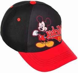 Disney Mickey Mouse Boys Baseball Cap Adjustable Hat Kids Gi