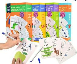 MiDeer Kids Learning Toys Activity Cards Write and Wipe Off