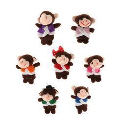 MagiDeal Monkeys Finger Puppets Kids Plush Cloth Toys for Be