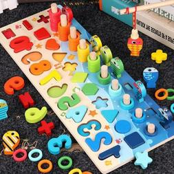 Montessori Educational Wooden Toys For Children Kids Busy Bo