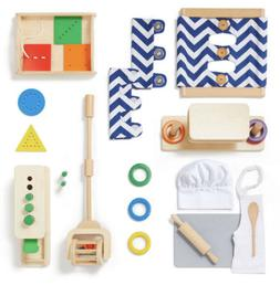Montessori Wooden Toys Monti Kids Level 7 Box Ages 18 - 36 M